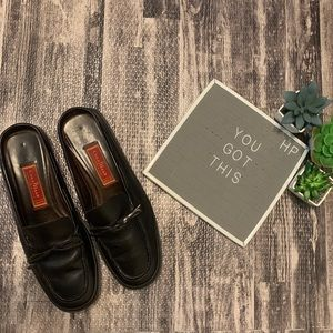Cole Haan Country Black Leather Slide Loafer